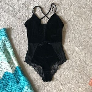 NWT Gilligan & O'Malley BodySuit Target Black Lace